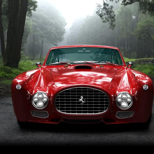 Stunning red Ferrari 340 wallpaper