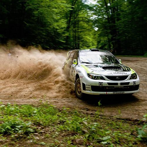 Subaru Impreza rally afdrift tapet