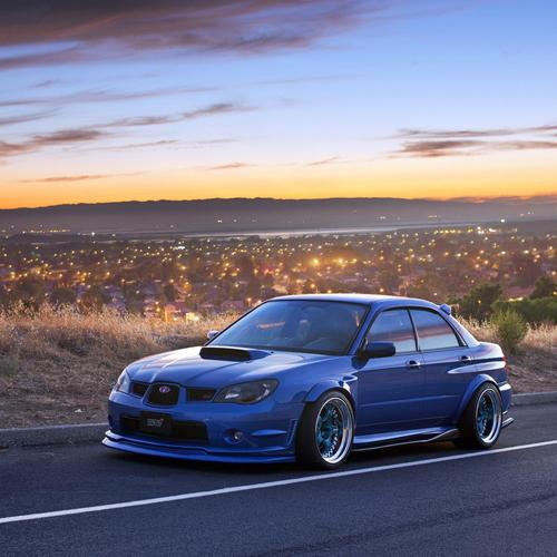 Subaru Impreza WRX STI Tuning Car behang