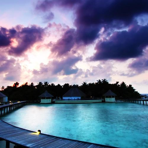 Sunrise resort at Maldives