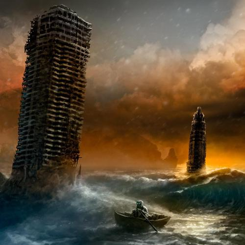 Sunset Sea Escape Route Romantically Apocalyptic Vitaly Alexius Comic wallpaper