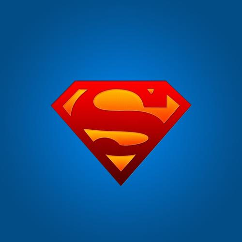 Superman logo on blue wallpaper