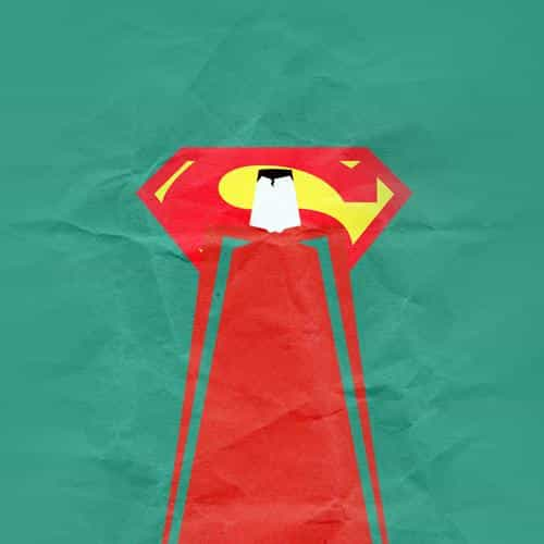 superman minimal art illustration art green