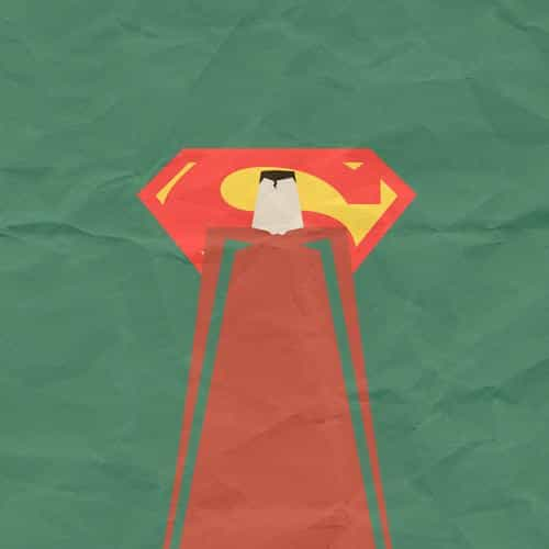 superman minimal art illustration art