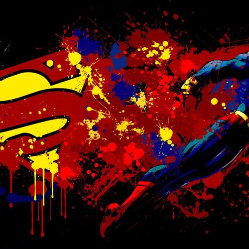 Superman paint splash wallpaper