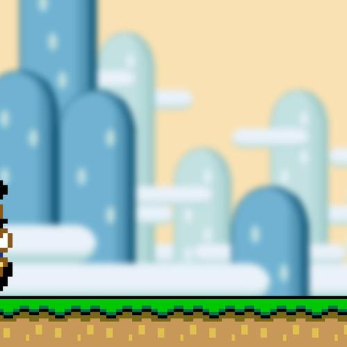 supermario pixels behang