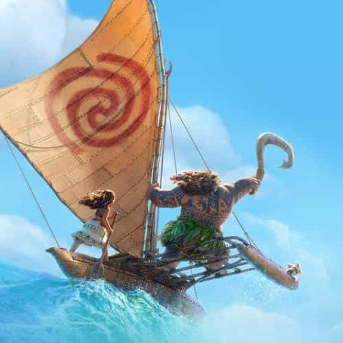 surf moana disney film anime summer sea illustration art