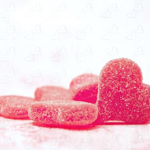 Sweet candy heart-shaped wallpaper