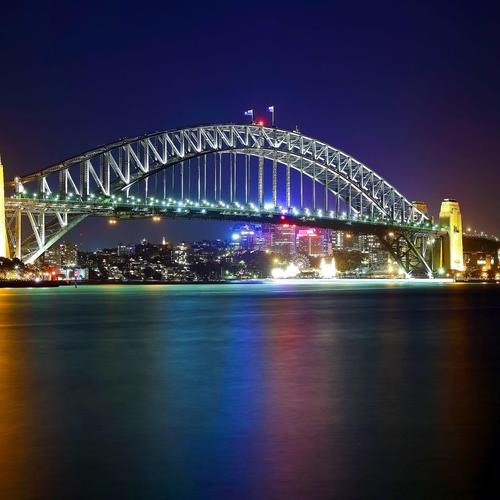 Sydney Harbour Bridge in Australia larga sfondo
