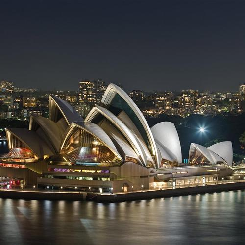 Sydney Opera House At Night in Australia sfondo