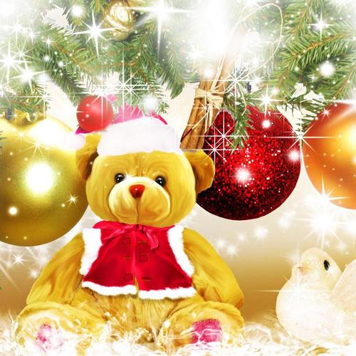 Teddybear for Christmas wallpaper