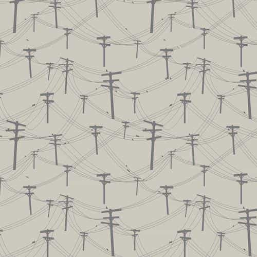 telephone lines pattern red