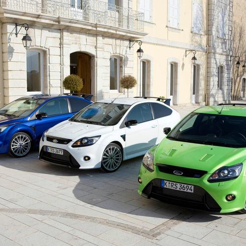 Drie Ford Focus RS behang