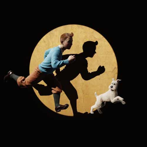 tintin 3d art dark illustration