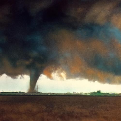 Tornado painting wallpaper