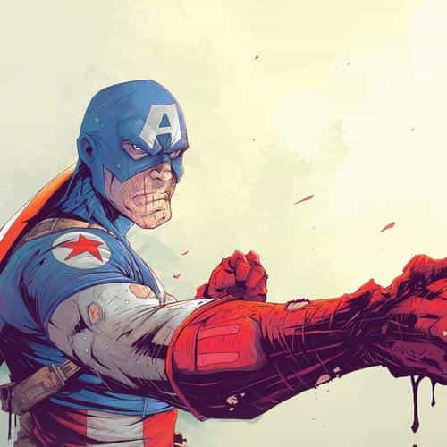 toronto revolver illustration art anime hero captain america