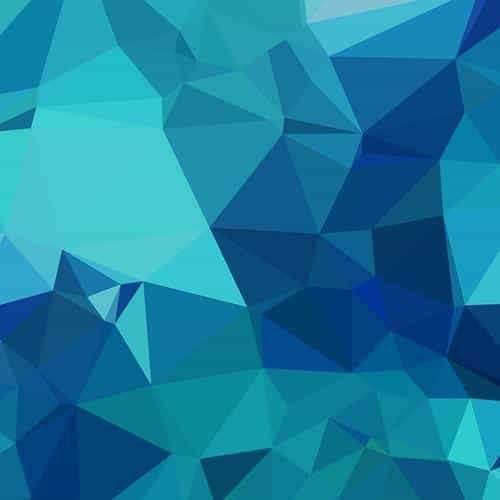 triangle of blue patterns
