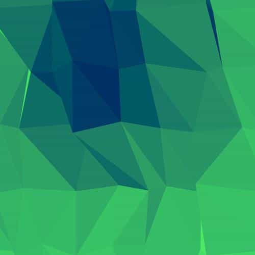 triangles green blue lights pattern