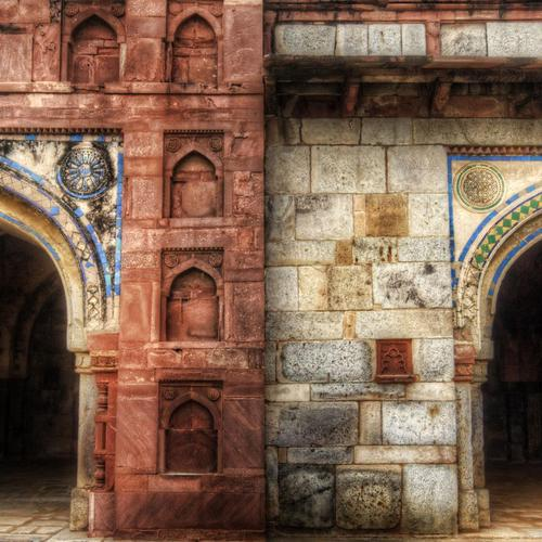 Two Archways In India architecture wallpaper