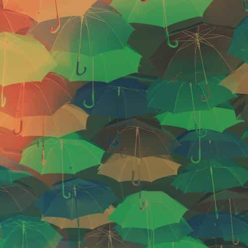 umbrella party red pattern