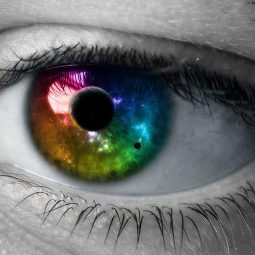 Universe in the colorful eye