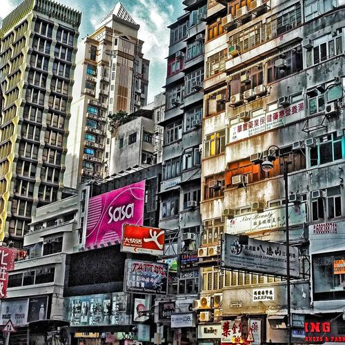 Urban scene in Hong Kong Hdr wallpaper