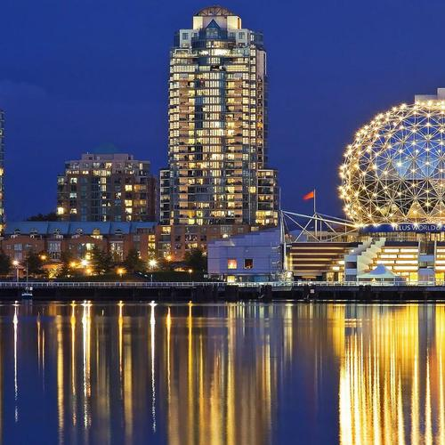 Vancouver city lights wallpaper