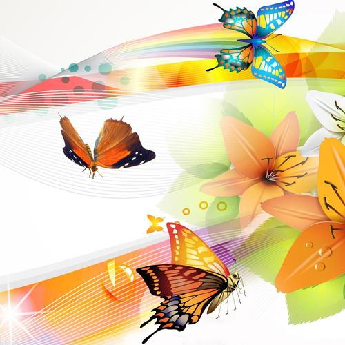 Vector Butterflies collage
