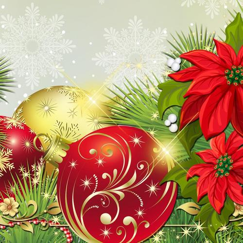 Vector decorations for Christmas wallpaper