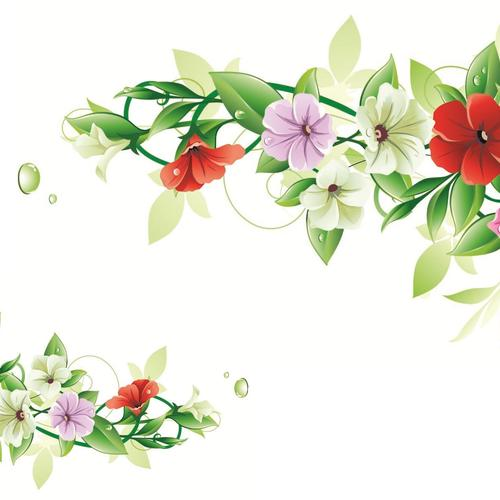 Vector flower frame wallpaper