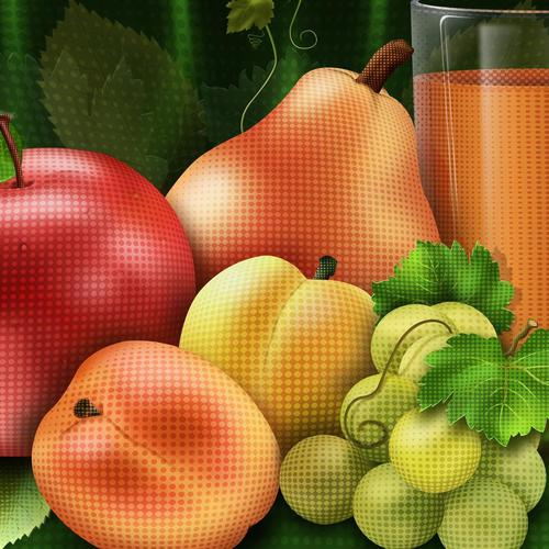 Vector juice fruit wallpaper