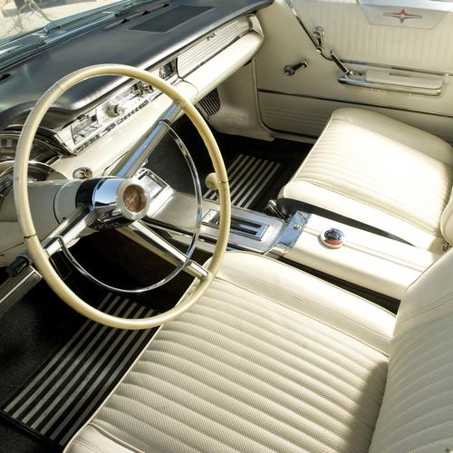 Vintage interior of classic car wallpaper