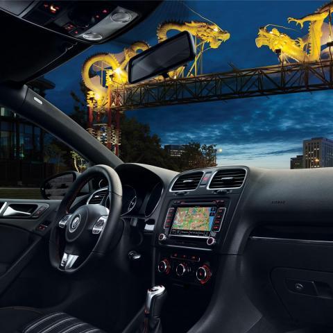 Volkswagen GTI wnętrze tapeta