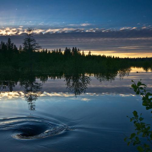 Vortex in a lake