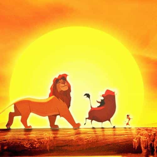 walt disney lion king anime art poster