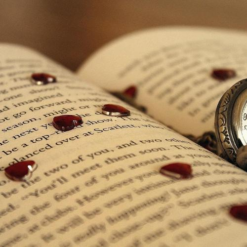 Watch and hearts on the book wallpaper