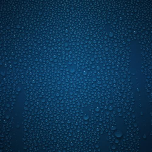 Download Waterdrop on the blue surface High quality wallpaper