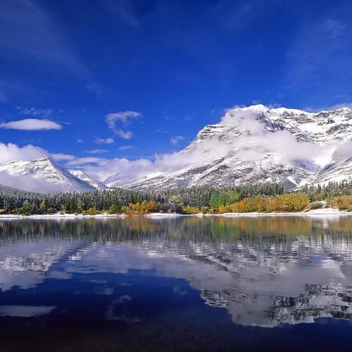 Download Wedge Pond, Alberta , Canada Hoge kwaliteit behang