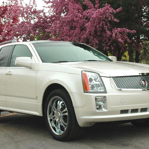 Witte Cadillac Srx behang