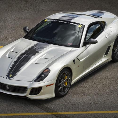 White Ferrari 599 GTO wallpaper