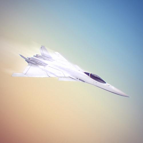 White fighter aircraft