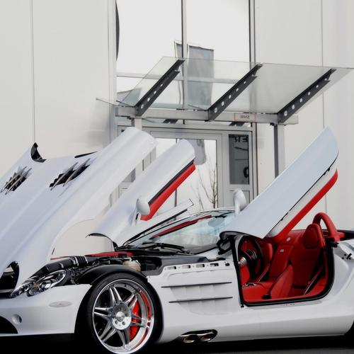 White Mercedes Slr Smart Brabus