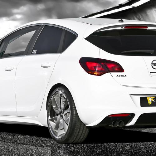 White Opel Astra Turbo