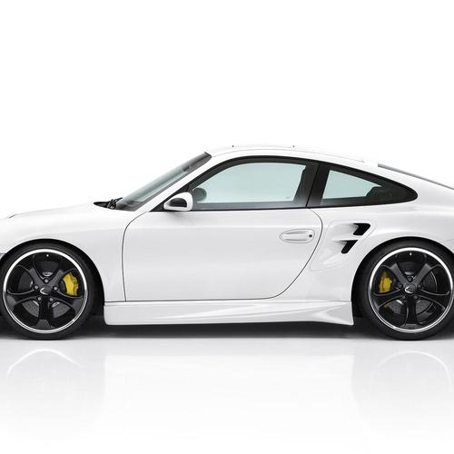 White Porsche 911 Techart 5 wallpaper