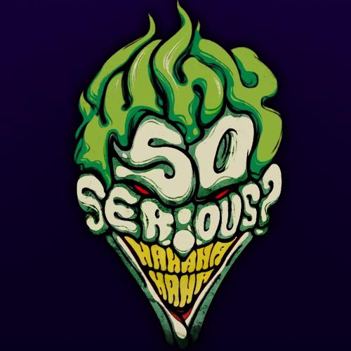 Why so serious Joker gezicht behang