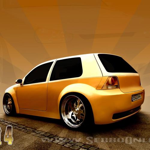 Widebody Vw Golf Mk4 wallpaper