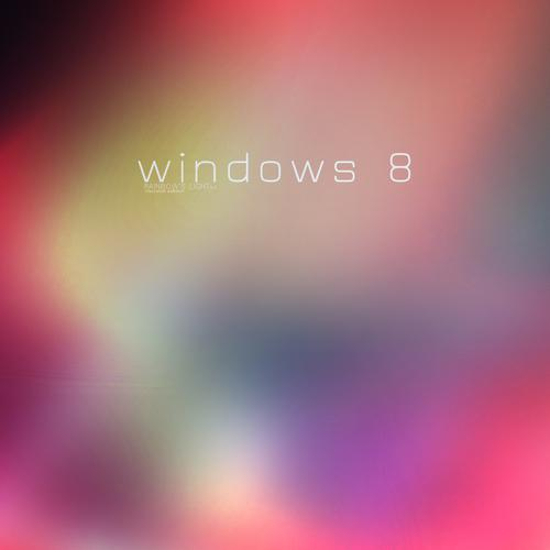 Windows 8 rainbow light