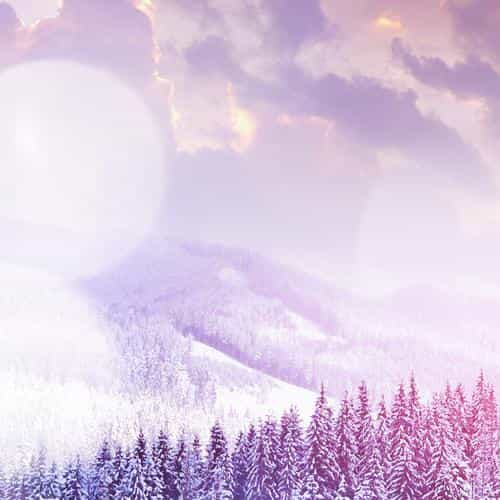 winter mountain snow white flare nature
