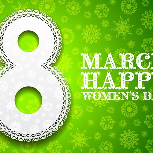 Women day 2014 green March happy