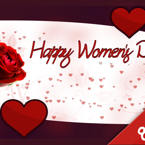 Women day with rose wallpaper